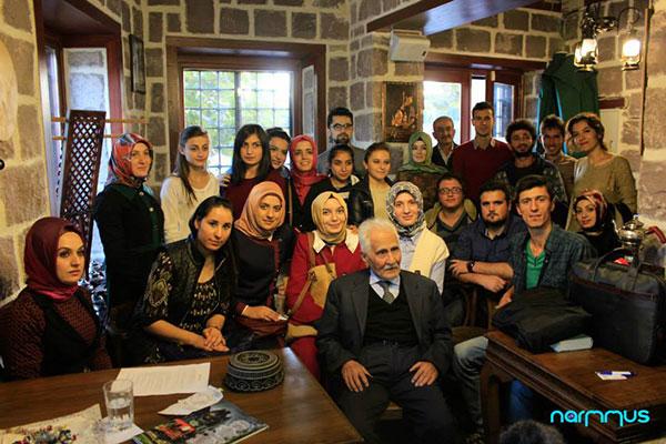 Şair Bahaattin Karakoç Neyzenler Konağı'ndaydı...